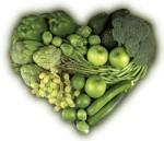 coeur de légumes verts